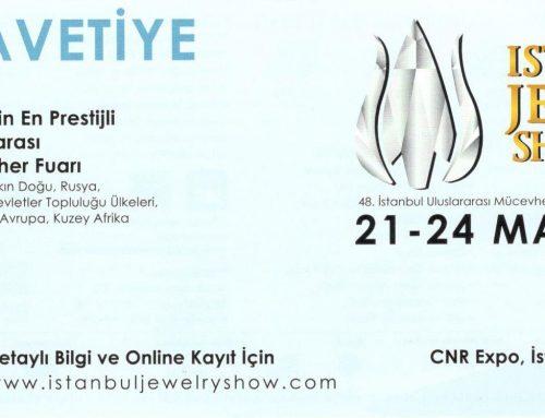 Istanbul Jewelry Show Mart 2019 Fuarındayız…